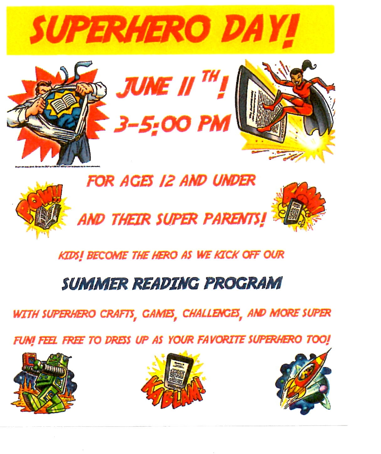 Super Hero Day June 11th